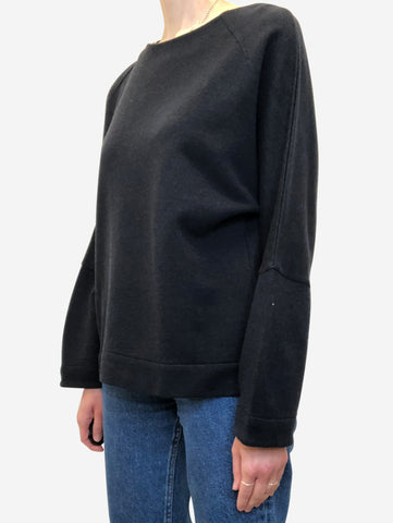 Navy oversized lightweight sweatshirt - size S