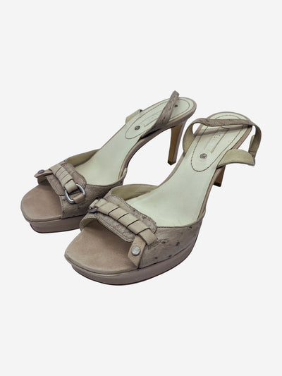 Neutral slingback open toe heels - size EU 39.5