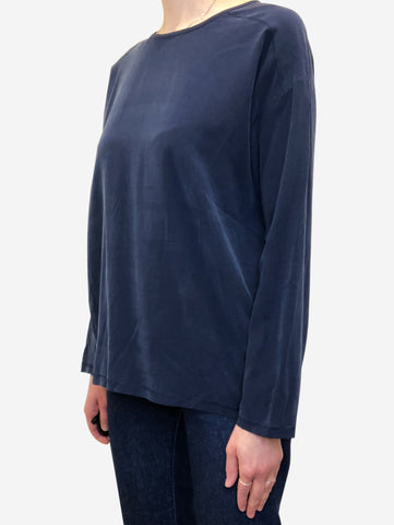 Navy long sleeve top - size S