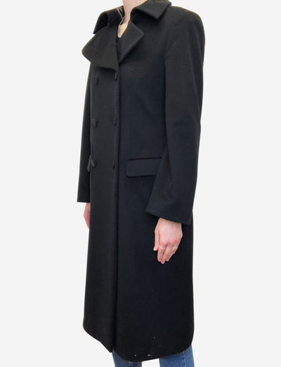 Black double breasted coat - size IT 40