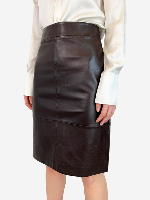 Barneys New York leather skirt - size 14 Barneys New York - Timpanys