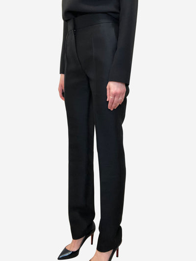 Black shiny tailored trousers - size UK 8