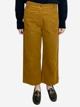 Load image into Gallery viewer, High-waisted corduroy culottes - size UK 10