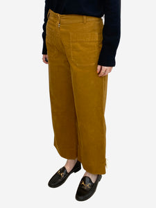 High-waisted corduroy culottes - size UK 10