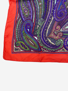 Etro Multi paisley twilly silk scarf