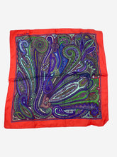 Load image into Gallery viewer, Multi paisley twilly silk scarf