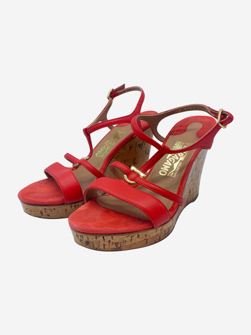 Red espadrille sandals - size EU 36.5
