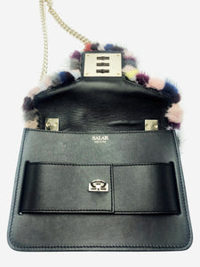 Salar Milano Mink fur multicoloured cross body bag