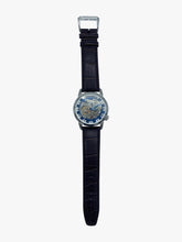 Load image into Gallery viewer, Silver and brown leather strap watch