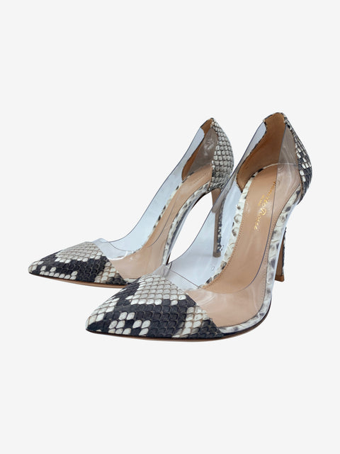 Plexi 105 python leather pumps - size 4.5