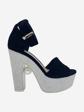 Load image into Gallery viewer, Black and white Nicholas Kirkwood Heels, 4.5