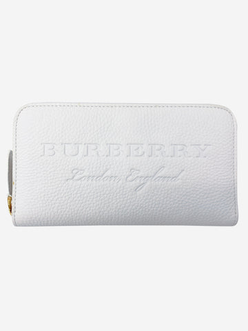White Monogram leather long wallet