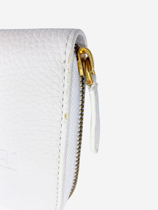 Burberry White Monogram leather long wallet
