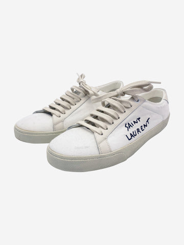 White canvas trainers - size EU 37.5