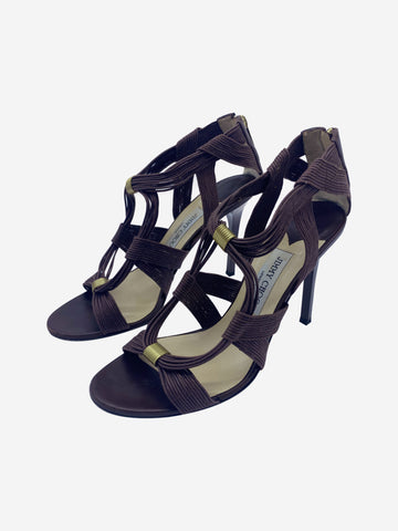 Brown open heeled sandals - size EU 40