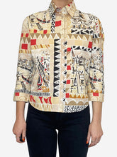 Load image into Gallery viewer, Beige and red Venice Italy print shirt - size IT 42