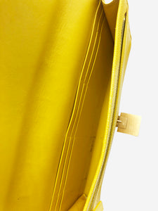 Smythson Yellow Smythson Clutch