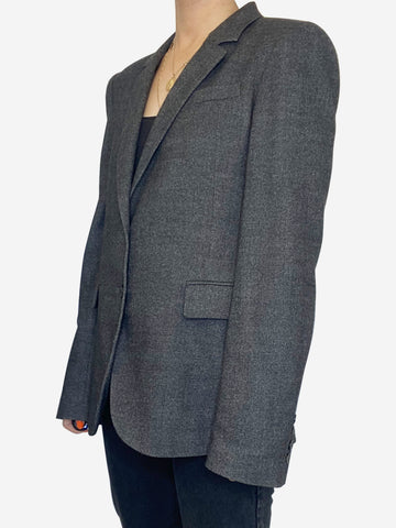 Dark grey cashmere blazer - size IT 42