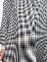 Load image into Gallery viewer, Black and white gingham swing coat - size M