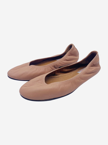 Pink leather flats - size EU 37