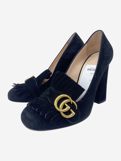 Black GG Marmont suede heels  - size EU 38.5