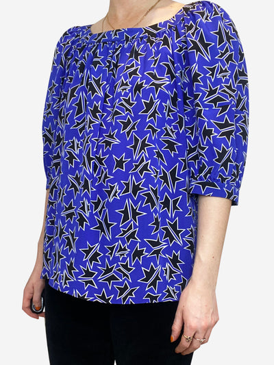 Black white and blue Miu Miu Blouse, 10