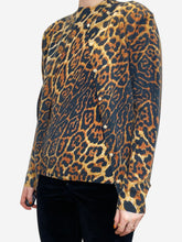 Load image into Gallery viewer, Leopard print cashmere sweater and cardigan - size M