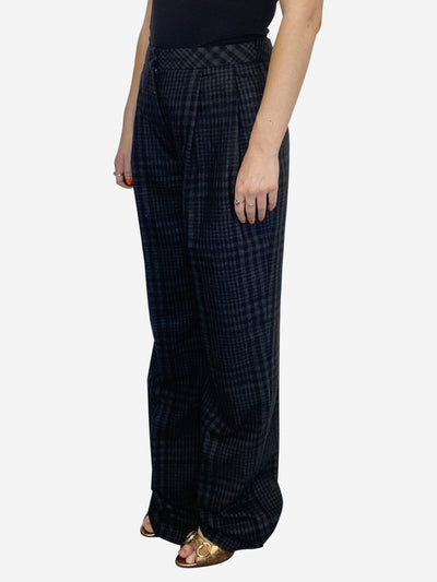 Grey and black Knit trousers wide leg - size 10