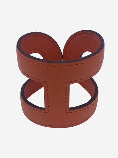 orange ano leather cuff