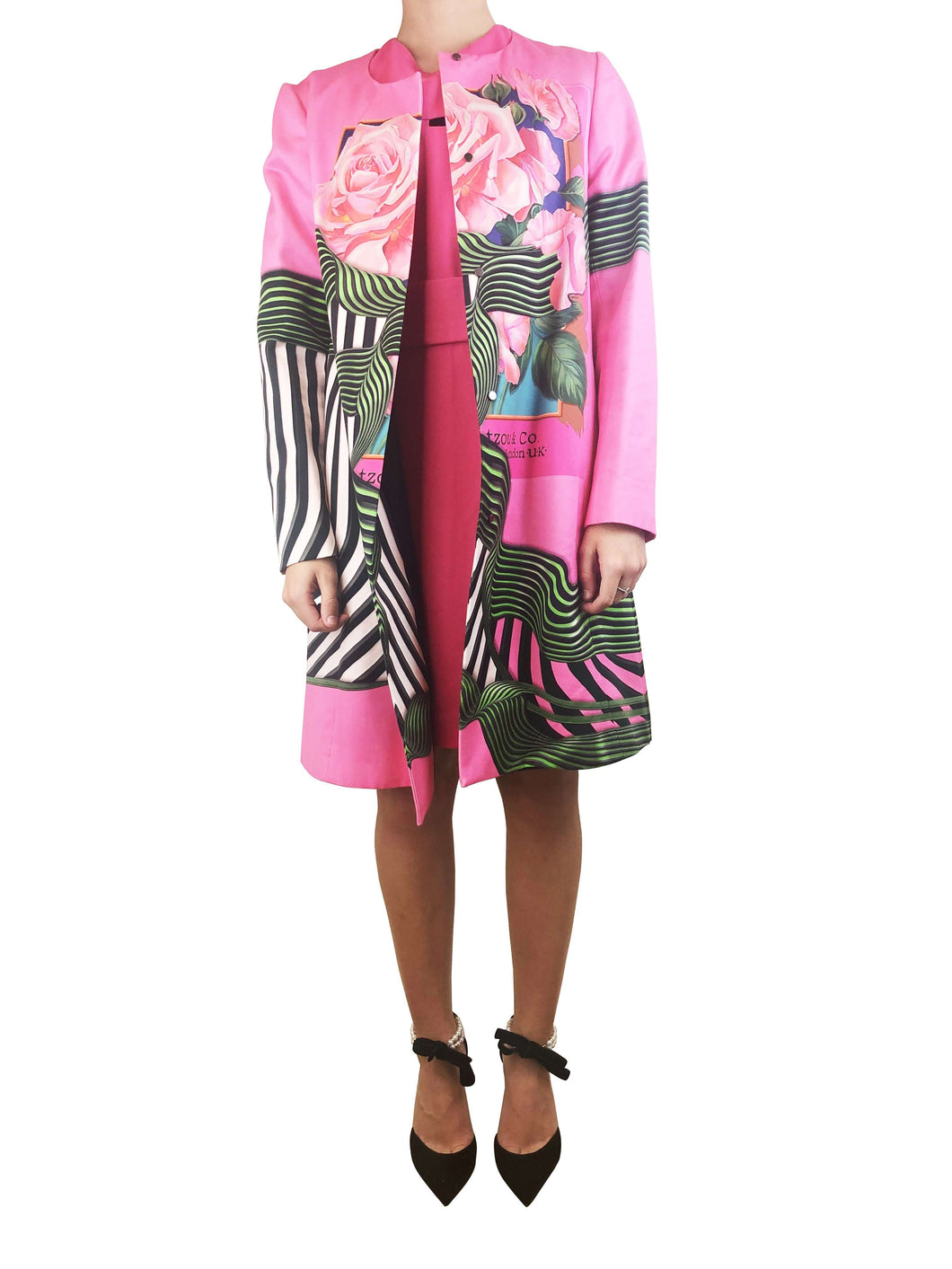 Mary Katrantzou Nature Printed Cape Size 10 RRP £1552 - Sign of the Times