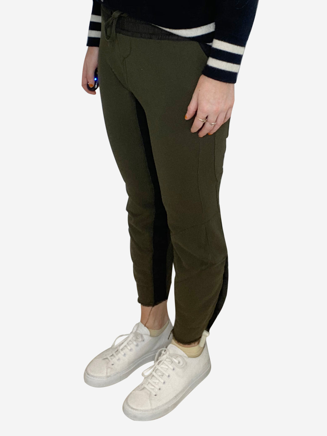 Khaki jogging bottoms - size XS