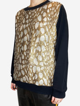 Load image into Gallery viewer, Black & Gold Dries Van Noten Sweaters, M