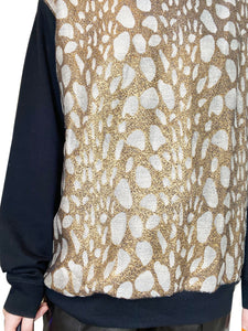 Dries Van Noten Black & Gold Dries Van Noten Sweaters, M