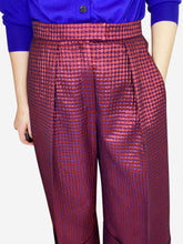 Load image into Gallery viewer, Red & purple polka dot wide leg culottes - size ES 38