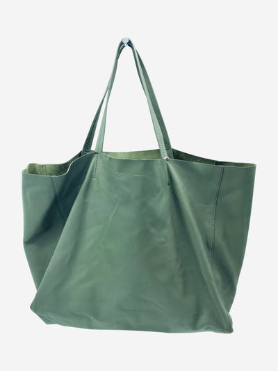 Grey Cabas large leather shopper