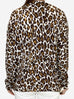 Cream and brown leopard print sweater - size 10