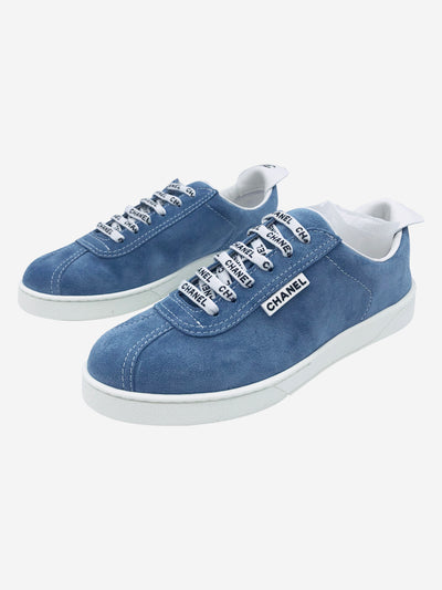 Baby blue lace up trainers - size EU 39