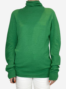Green turtleneck sweater - size S