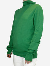 Load image into Gallery viewer, Green turtleneck sweater - size S