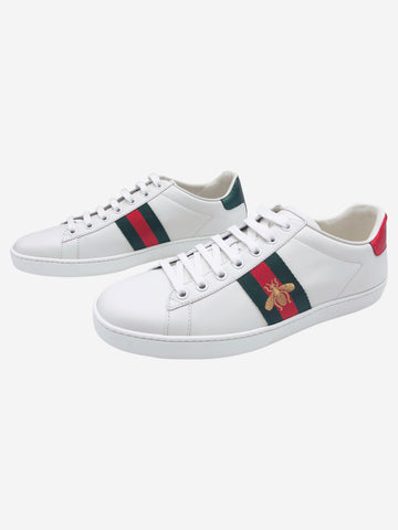 White Ace embroidered Trainers- size EU 39
