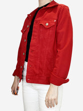 Load image into Gallery viewer, Red denim jacket - size S