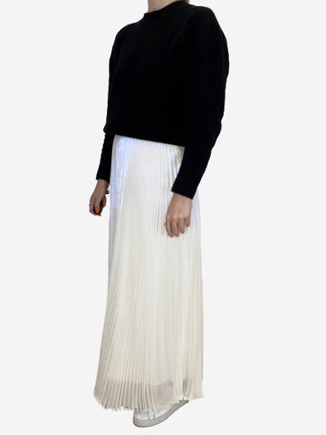Translucent iridescent pleated midi skirt - size 8