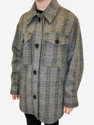 Grey garvey coat - size UK 8