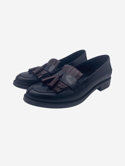 Black leather loafers - size EU 36.5