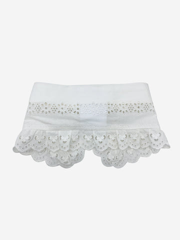 White embroidered cotton collar