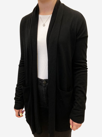 Black midi length long sleeve cardigan - size S