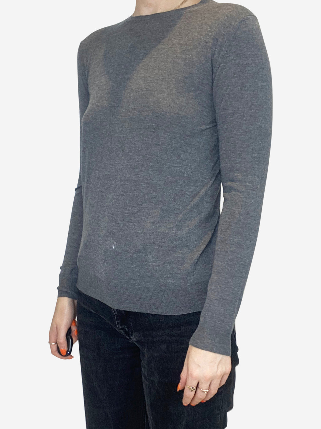 Grey long sleeve thin sweater - size IT 40