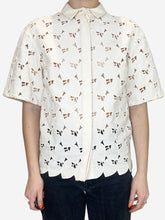 Load image into Gallery viewer, Cream heart button down blouse - size IT 42