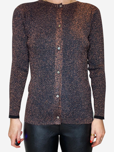 Bronze button up cardigan - size FR 36