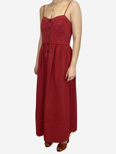 Chelle red button through corset dress - size US 6